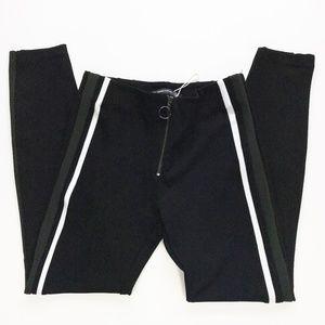 Zara Trafaluc Black Skinny Zipper Waist Ankle Pant